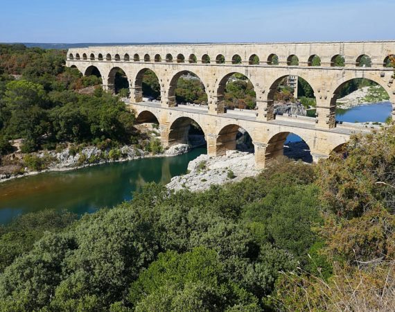 The Pont du Gard Aqueduct in France